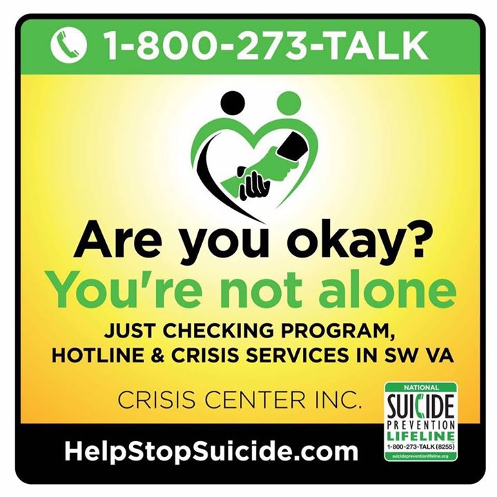 Are you Okay? Suicide Prevention Lifeline
